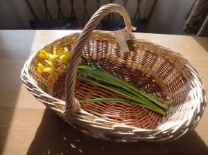 Cut flower basket