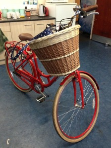 Bicycle basket on the bike