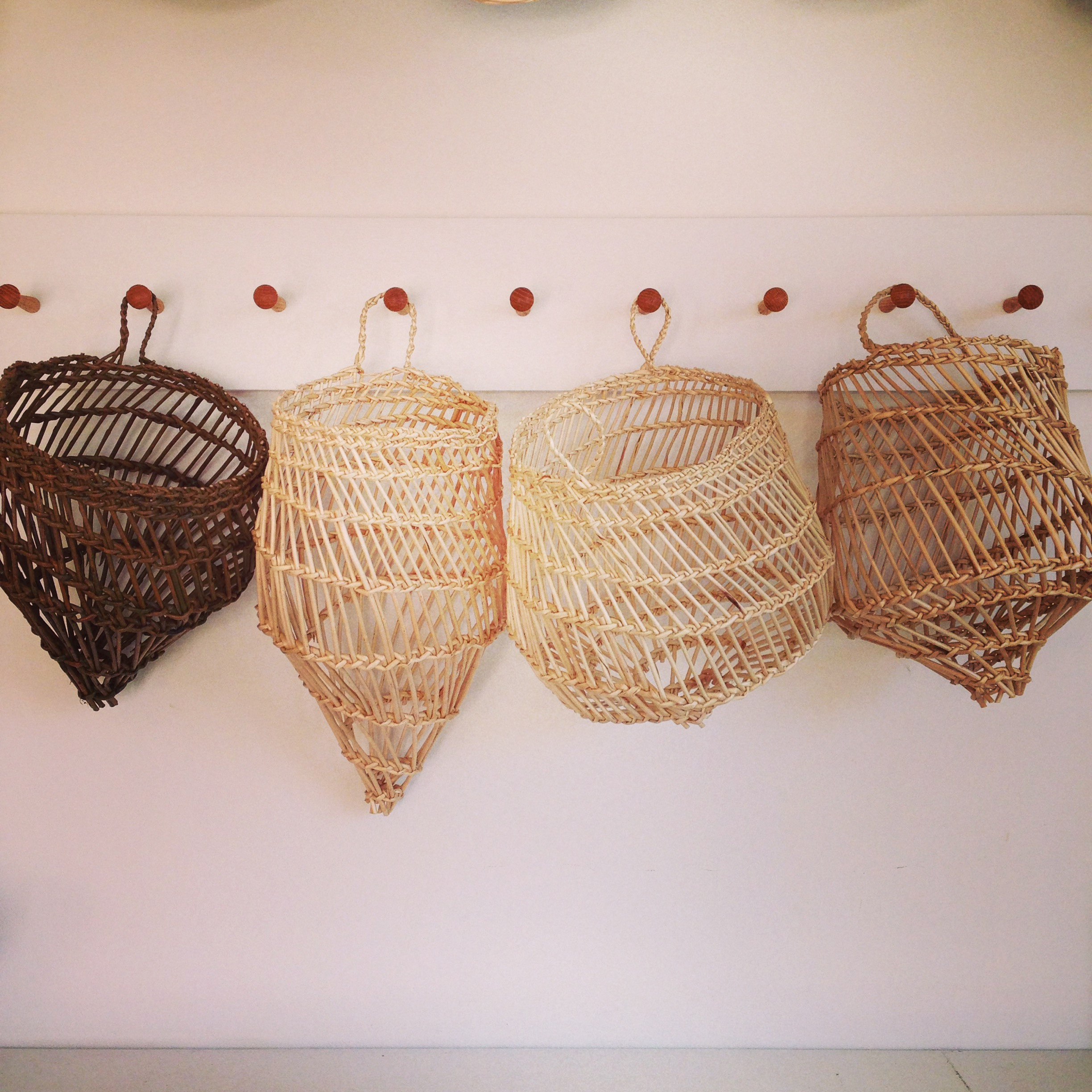Willow wall hanging baskets - Ely Basketmaker