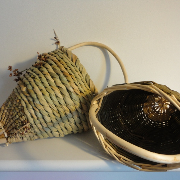 Rush and willow Nut Baskets