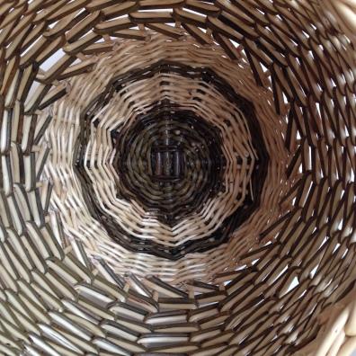 Zigzag weave handbag interior