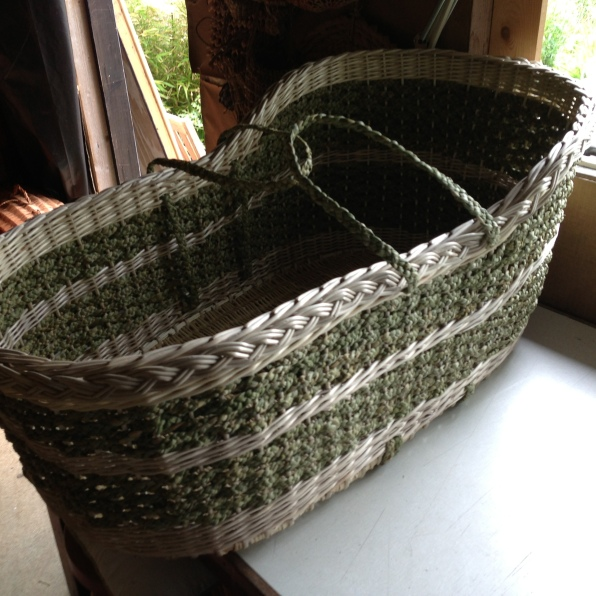 Rush and willow moses basket
