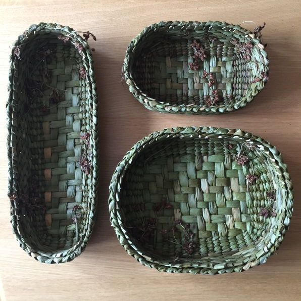 Rush oval baskets