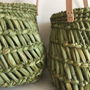 Burkina plaited rush baskets